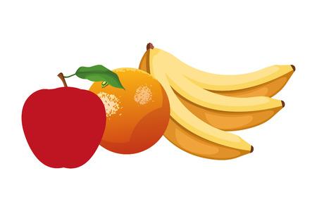 icône de fruits dessin animé illustration vectorielle conception graphique Vecteurs