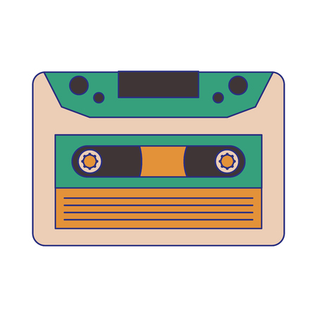 old music cassette symbol vector illustration graphic design
