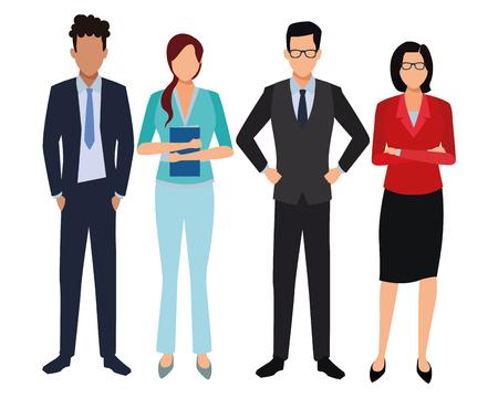 executive business coworkers cartoon vector illustration graphic design Vektorové ilustrace