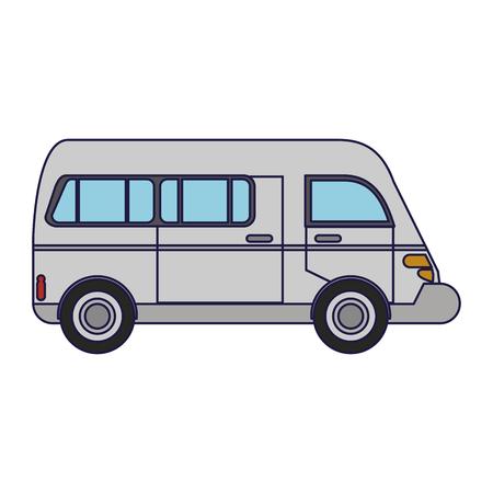 Van vehicle sideview symbol vector illustration graphic design vector illustration graphic design Stock Illustratie