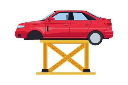 transportation concept car at service car cartoon vector illustration graphic design