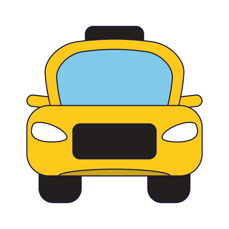 Taxi cab frontview vehicle vector illustration graphic design vector illustration graphic design