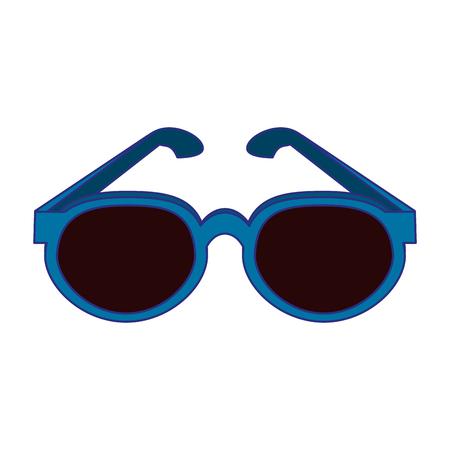 Summer sunglasses fashion isolated vector illustration graphic design