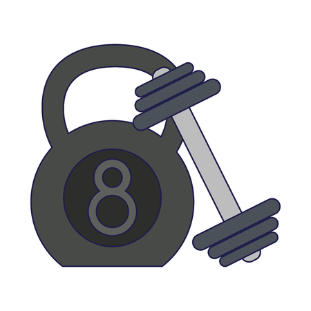 Ketlebell and dumbbell gym equipment Designe