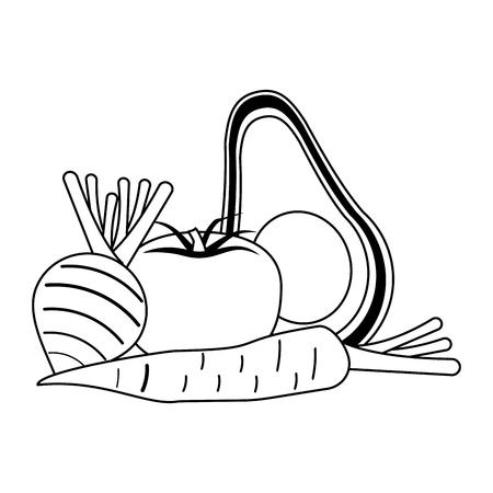 vegetables healthy and fresh food vector illustration graphic design 向量圖像