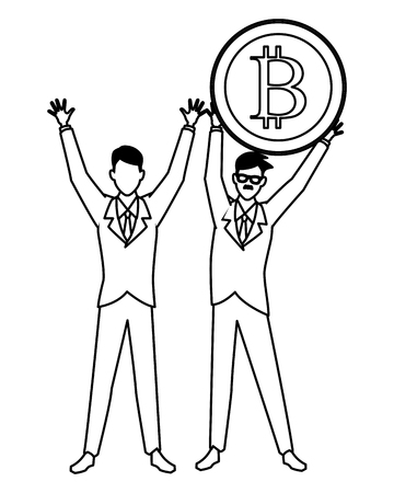 Business people with bitcoins avatars vector illustration graphic design Stock fotó - 123188381