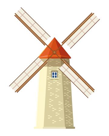 windmill icon cartoon isolated vector illustration graphic design Illusztráció