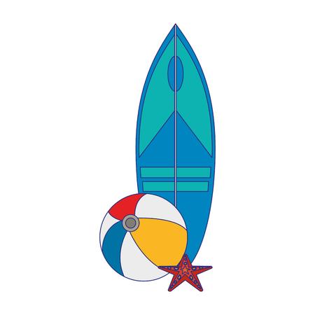 Summer and beach travel cartoon vector illustration graphic design Ilustração