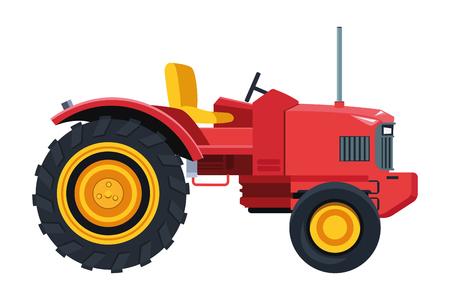 Diseño gráfico del ejemplo del vector aislado de la historieta del icono del tractor Ilustración de vector