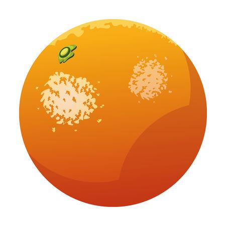 orange icon cartoon isolated vector illustration graphic design  イラスト・ベクター素材