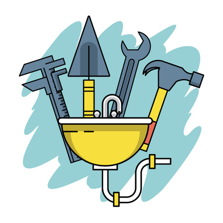 Home improvement and construction tools vector illustration graphic design Illustration