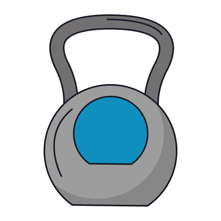 Gym equipment kettlebell isolated vector illustration graphic design
