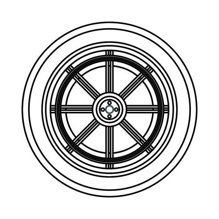 car service part wheel cartoon vector illustration graphic design Ilustração
