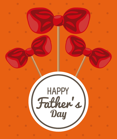 Happy fathers day card with cute cartoons vector illustration graphic design