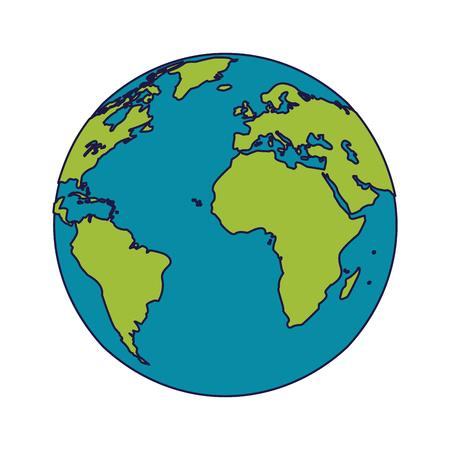 World earth planet cartoon isolated vector illustration graphic design vector illustration graphic design