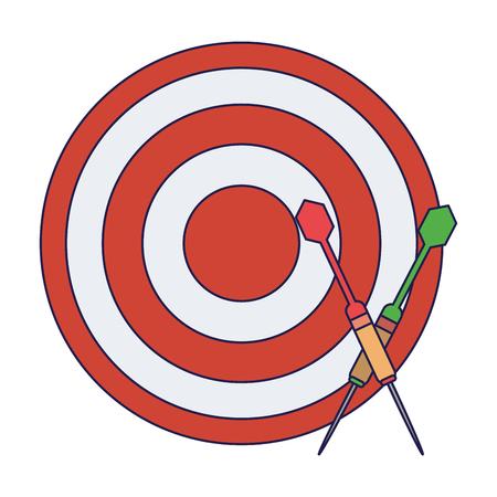 Dartboard with bow arrows Designe