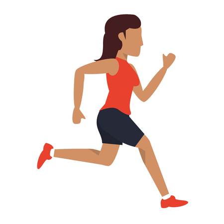 Fitness woman running sideview avatar