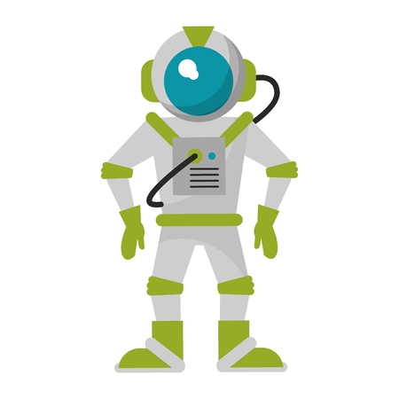 Astronaut equipment cartoon isolated vector illustration graphic design