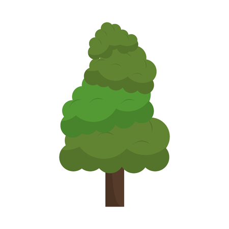 Tree nature cartoon isolated vector illustration graphic design