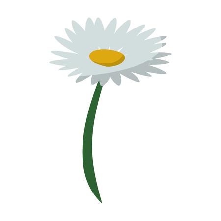 Beautiful flower cartoon isolated vector illustration graphic design