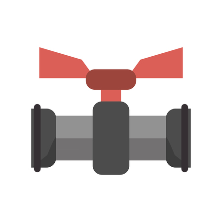 Pumbling pipeline with tap symbol vector illustration graphic design
