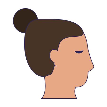 Woman face head silhouette vector illustration graphic design Ilustração