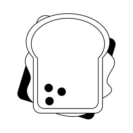 Sandwich healthy food topview symbol vector illustration graphic design