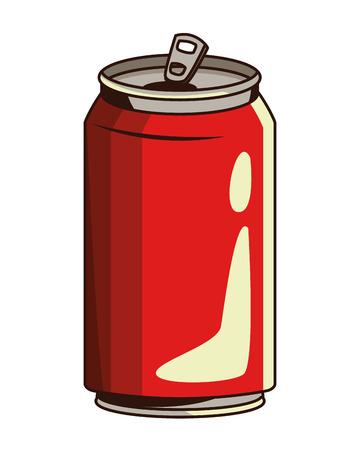 Diseño gráfico del ejemplo del vector de la historieta del icono de la lata de soda