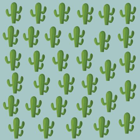 Cactus plant background pattern vector illustration graphic design