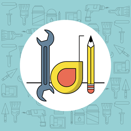Home improvement and tools symbols vector illustration graphic design Stock Illustratie