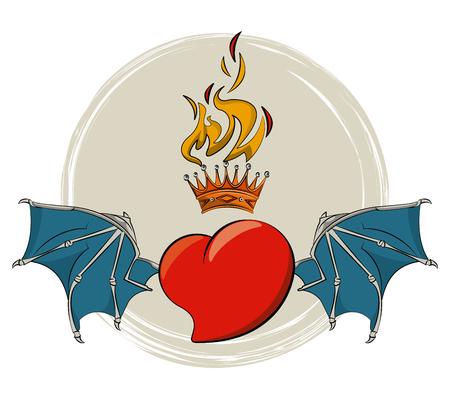 Tattoo old school drawings emblem vector illustration graphic design Stock Illustratie