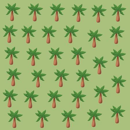 Tree palm background pattern vector illustration graphic design