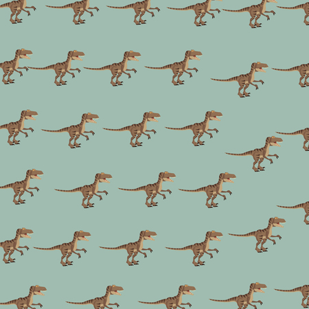 raptor dinosaur cartoon pattern background vector illustration graphic design