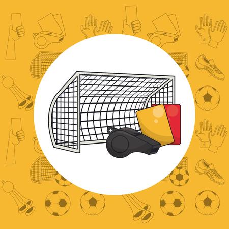 Soccer sport game equipment cartoons vector illustration graphic design Stockfoto - 123070852