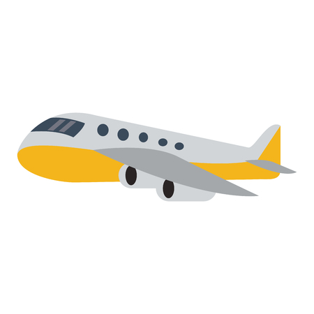 Airplane vehicle isolated cartoon airline vector illustration graphic design