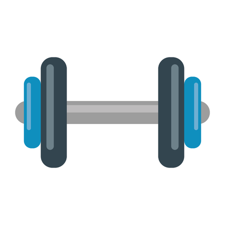 Gym equipment dumbell isolated vector illustration graphic design