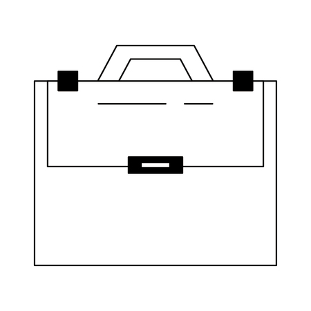 Briefcase sealed with handle bussiness isolated vector illustration graphic design