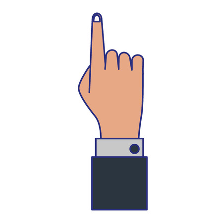 Businessman hand pointing up symbol vector illustration graphic design Ilustração