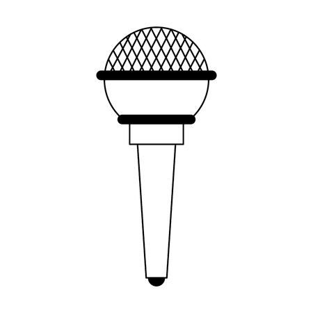 Modern microphone device isolated vector illustration graphic design Ilustrace