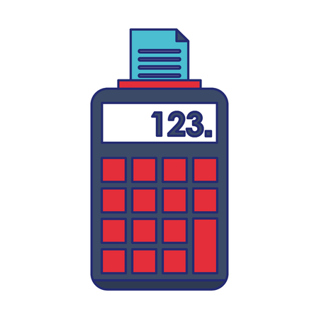 Printing calculator device symbol vector illustration graphic design
