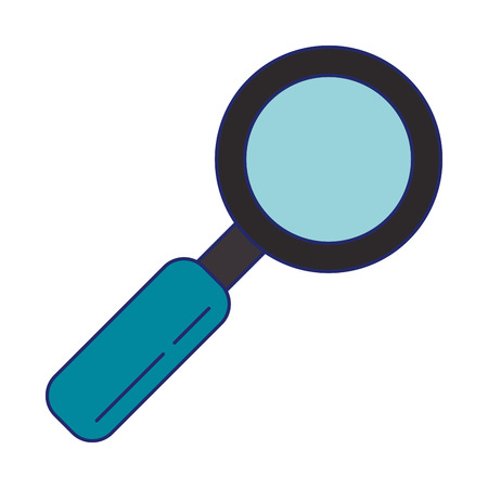 Magnifying glass online search isolated vector illustration graphic design