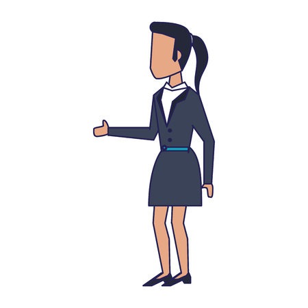 Businessman and businesswoman with briefcases avatar vector illustration graphic design