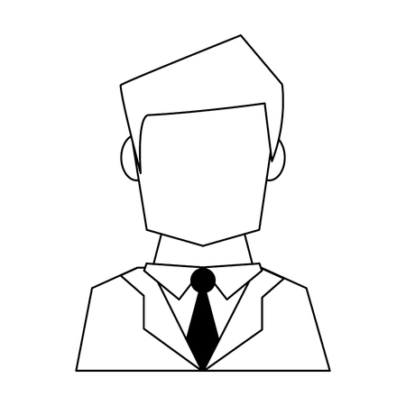 Businessman avatar faceless profile vector illustration graphic design
