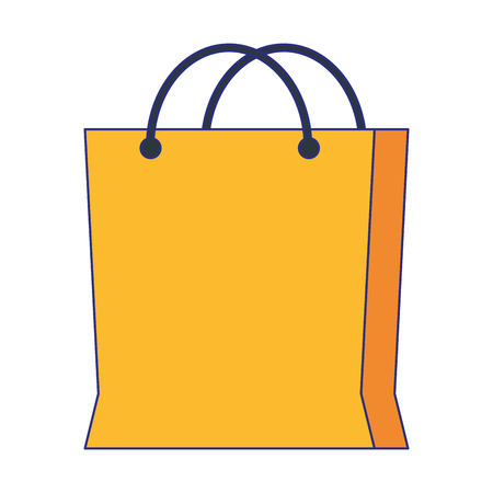 Shopping bag symbol isolated vector illustration graphic design