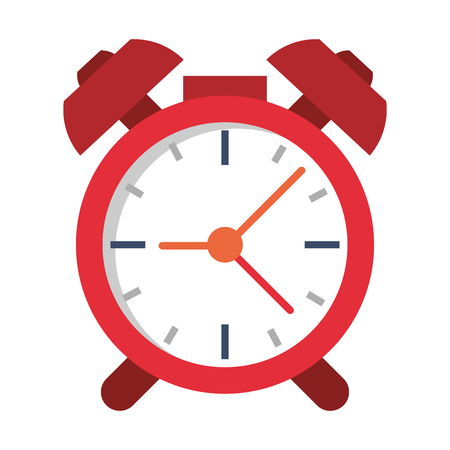 Alarm clock with bells symbol vector illustration graphic design 矢量图像
