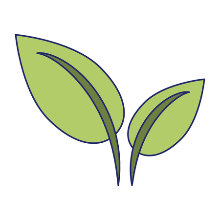 Leaves nature plant conservation isolated vector illustration graphic design