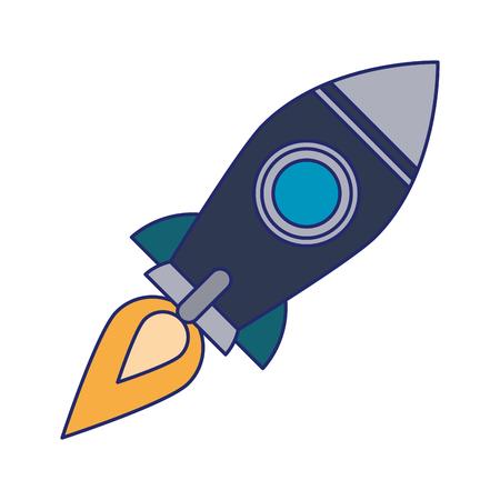 Rocket fliying space exploration isolated vector illustration graphic design 向量圖像
