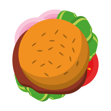 Fast food hamburger topview symbol vector illustration graphic design Ilustração