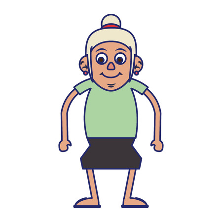 Elderly woman grandmother isolated isolated vector illustration graphic design Illustration