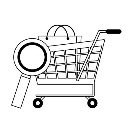 Online shopping and payment symbols vector illustration graphic design Ilustração
